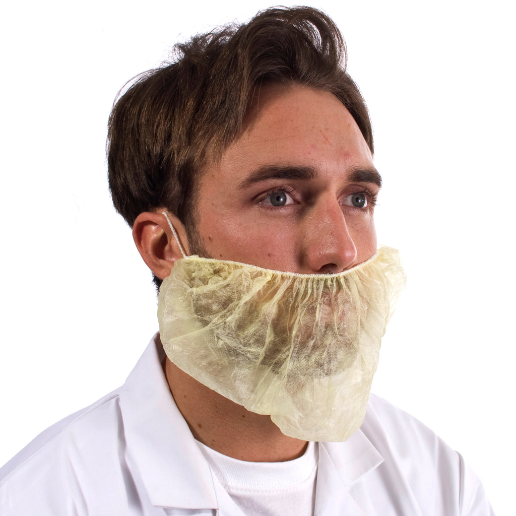 Yellow Disposable Beard Snood - Worklayers