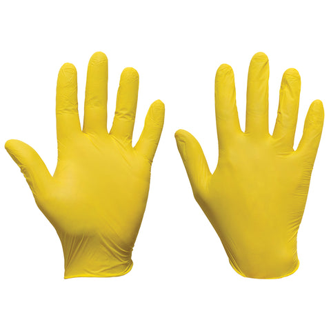 Yellow Nitrile Gloves Ultra - Worklayers