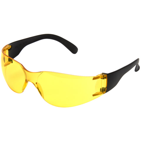 Yellow Safety Glasses E10 - Worklayers.co.uk