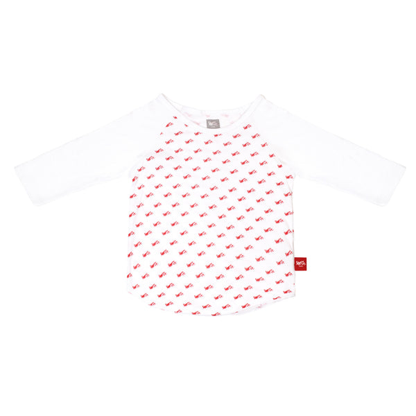Red Repeat Baseball Shirt