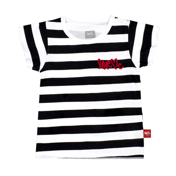 Block Stripe Crew Tee
