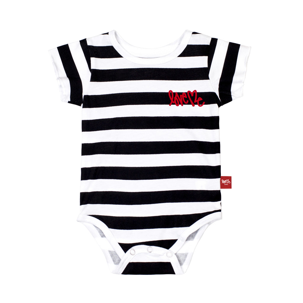 Block Stripe Onesie