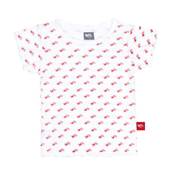Red Repeat Crew Tee