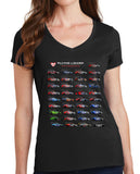 Ladies Lizard Anniversary V-Neck Tee