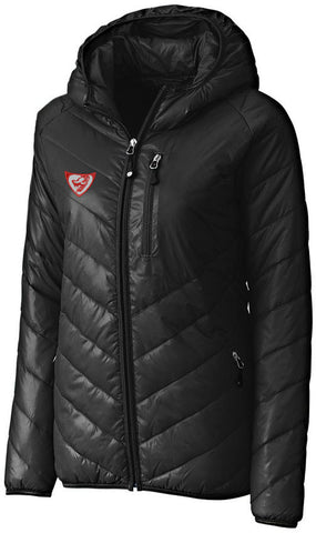 LADIES LIZARD PUFFY JACKET - Black