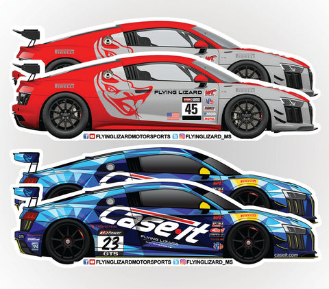 Flying Lizard Motorsports Stickers