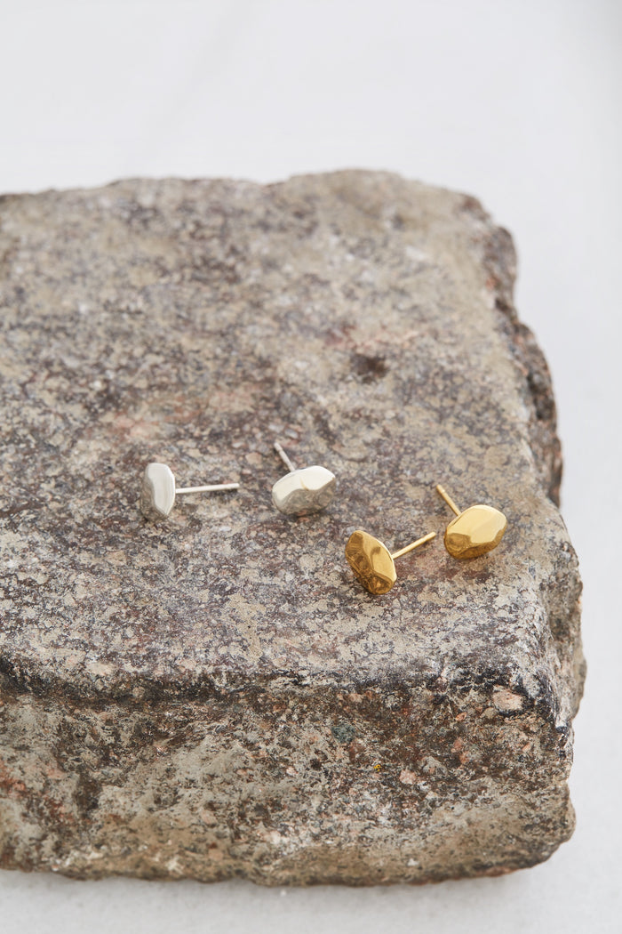 Faceted Pebble Ear Studs - Fearless Inventory