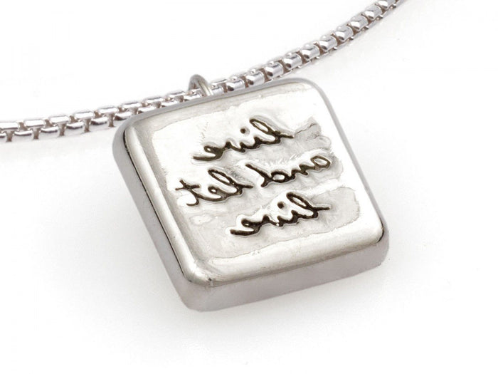 "Reflections ""Live and Let Live"" Pendant and Chain - Fearless Inventory"