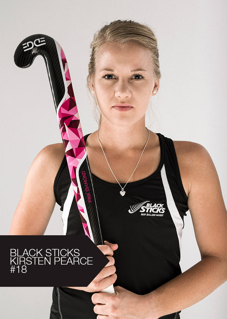 EDGE Pink Diamond Hockey Stick - Kirsten Pearce New Zealand Black Sticks