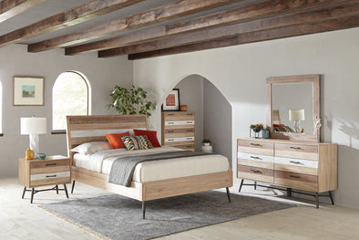 Marlow Queen Platform Bed Rough Sawn Multi