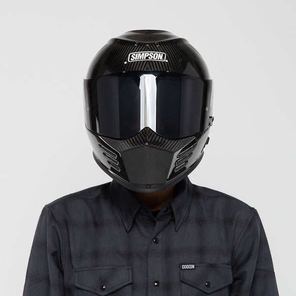 SIMPSON GHOST BANDIT HELMET CARBON FIBER ON MODEL
