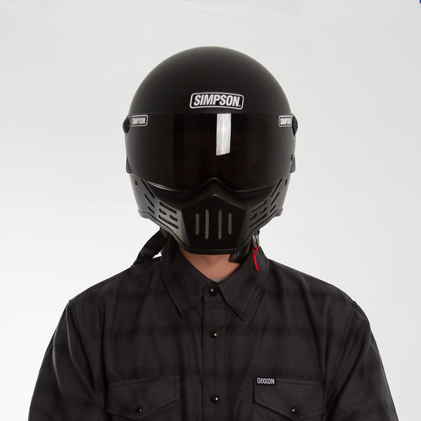 SIMPSON M30 HELMET MATTE BLACK ON MODEL