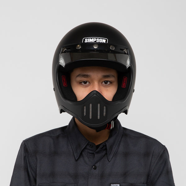 SIMPSON M50 HELMET MATTE BLACK ON MODEL