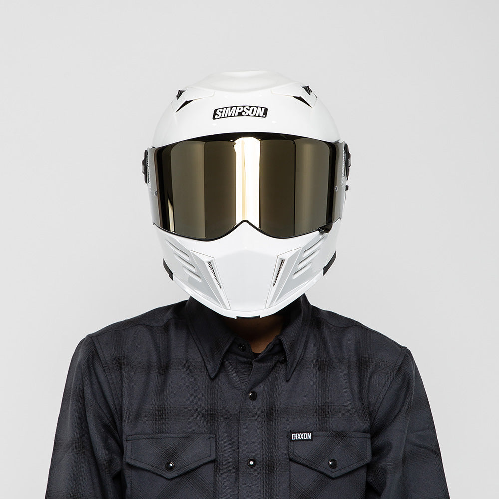 SIMPSON MOD BANDIT HELMET WHITE ON MODEL