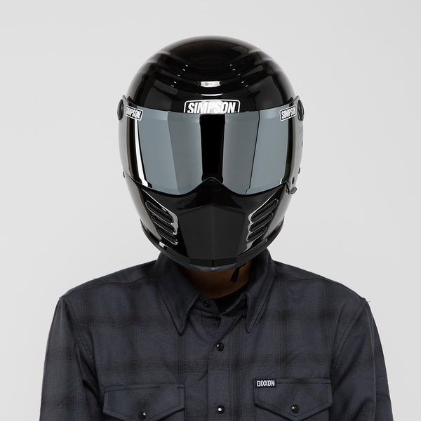 SIMPSON OUTLAW BANDIT HELMET GLOSS BLACK