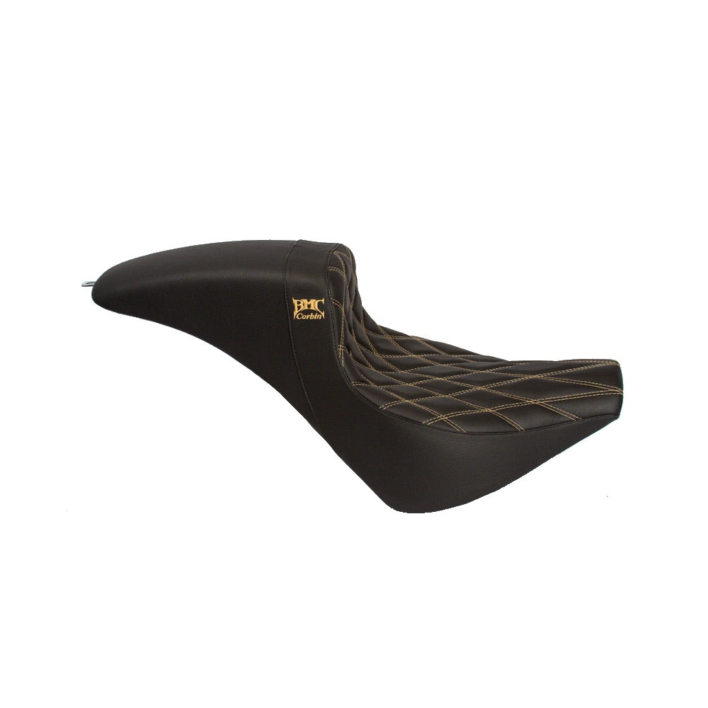 Softail 18' Wall Seat - Black/Gold Stitch
