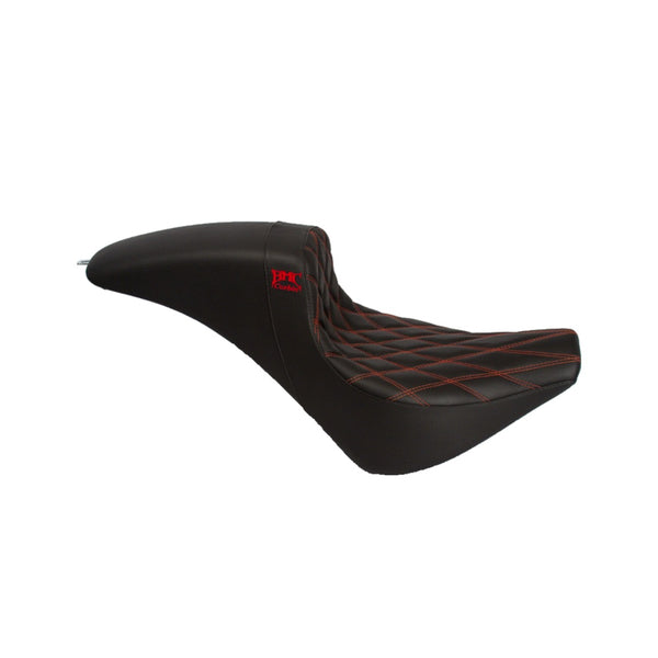 Softail 18' Wall Seat - Black/Red Stitch