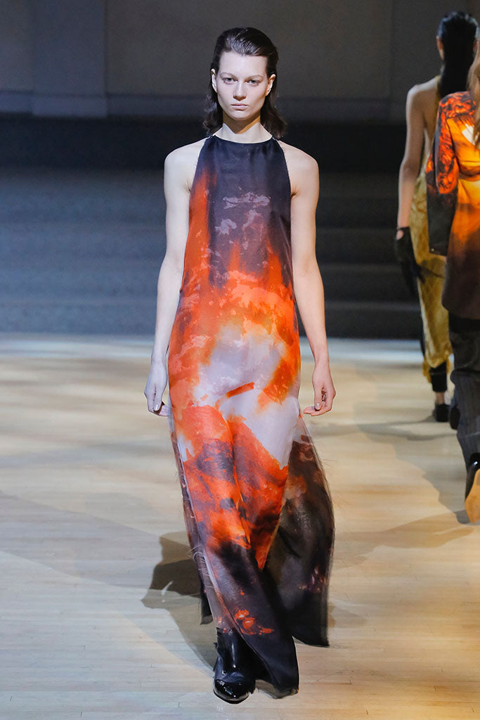 Linder: FW18 Flame Print Gown