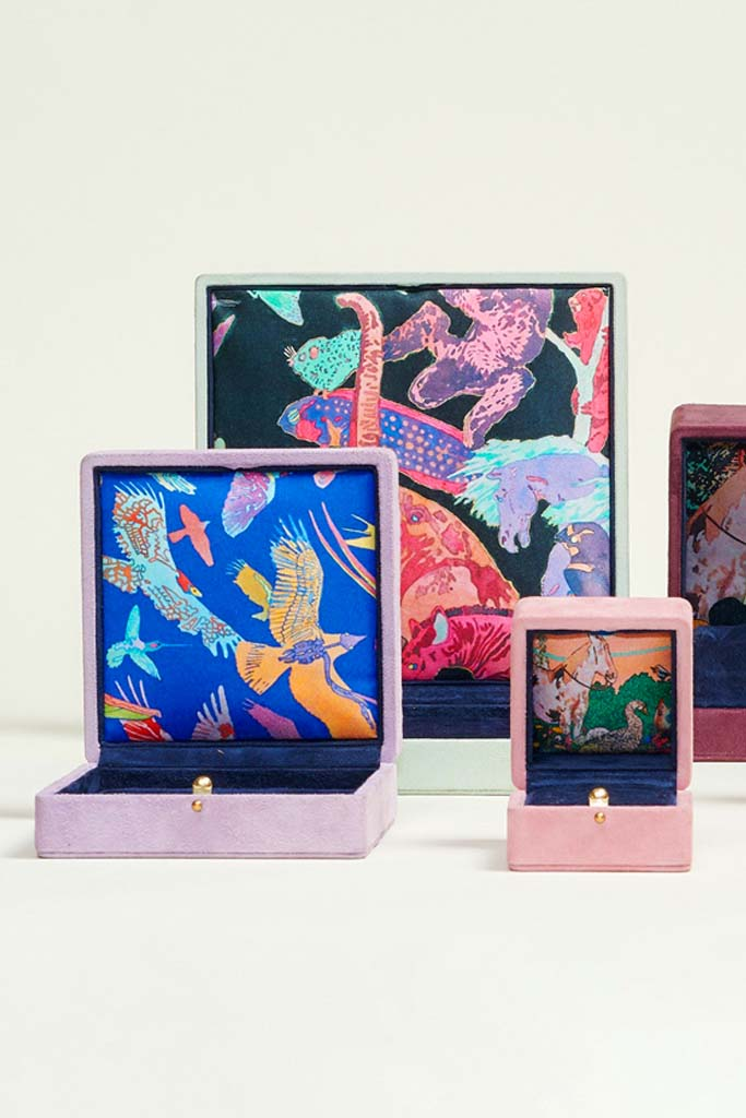 Irene Neuwirth: Silk Jewelry Box Linings