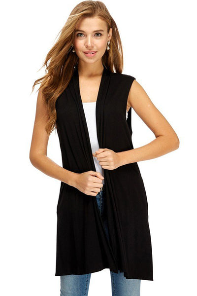 Long Vest with Side Pockets