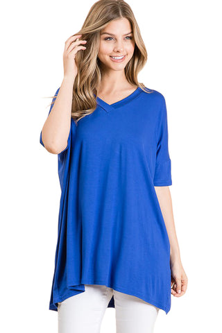 Loose Fit V-Neck Tunic