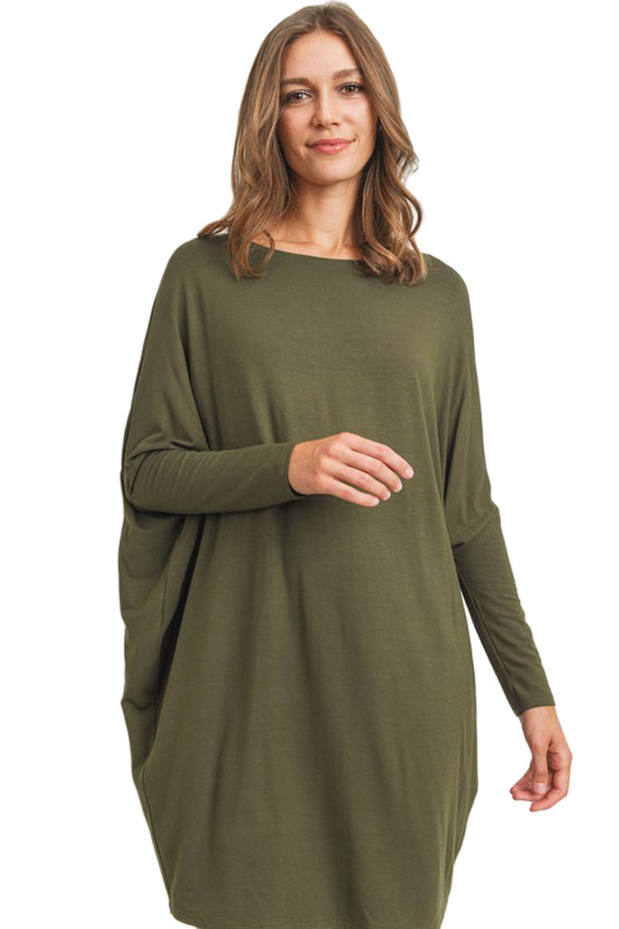 Dolman Sleeve Jersey Dress