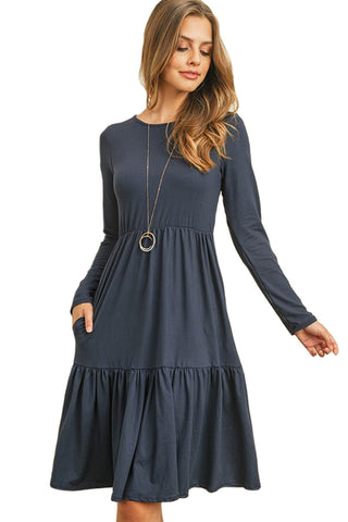 Double Layered Ruffle Dress