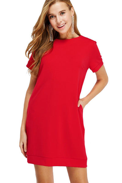 Banded Sleeve and Hem Dress