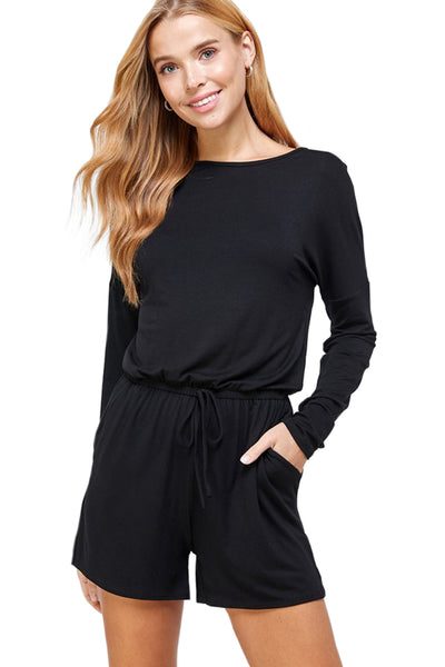 Long Sleeve Romper with Pockets