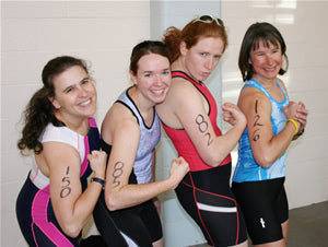 Susan, Molly, Abra and Renata having a bit of fun pre-race.