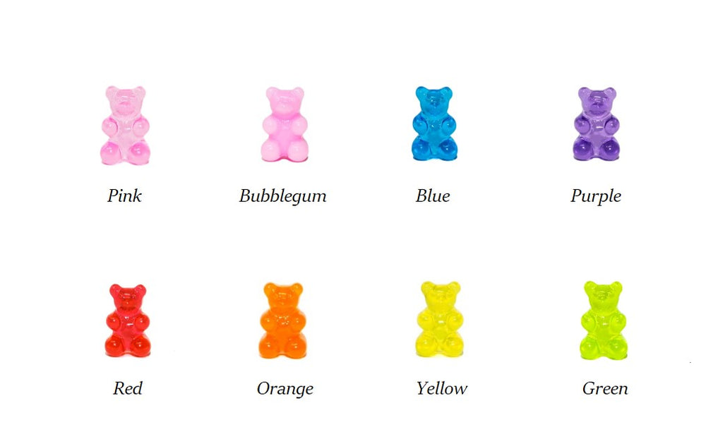 Gummy Bear Thread Earring- Bubblegum Pink
