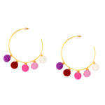 Dangling Esperance (pink & purple)