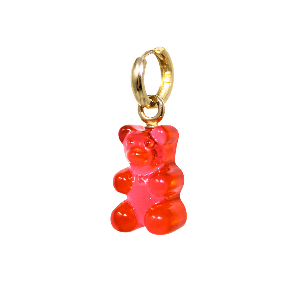 Gummy Bear Huggie Earring- Red