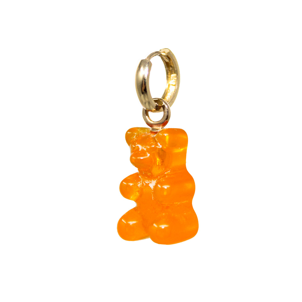 Gummy Bear Huggie Earring- Orange