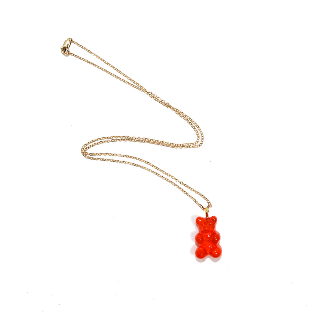 Gummy Bear Necklace- Pink