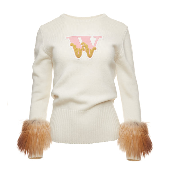 Varsity Sweater (Cream)