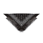 Silver Fox Trimmed Bandana (black)