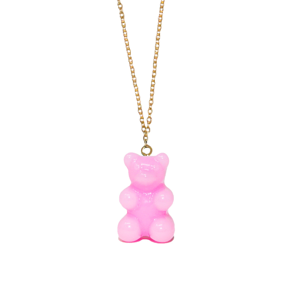 Gummy Bear Necklace- Bubblegum Pink