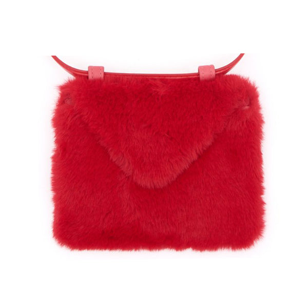 Envelope clutch belt bag (faux fur)
