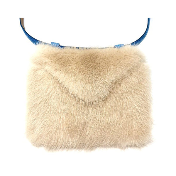 Envelope clutch belt bag (mink) - nude