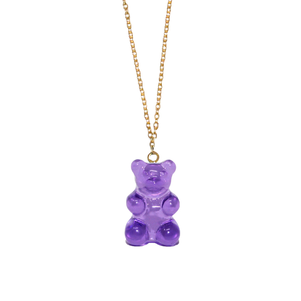 Gummy Bear Necklace- Purple