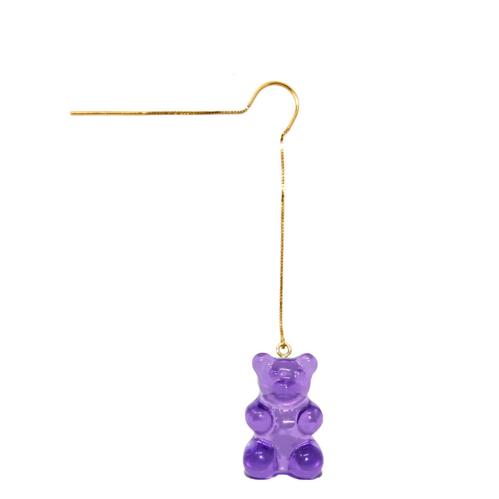 Gummy Bear Thread Earring- Purple