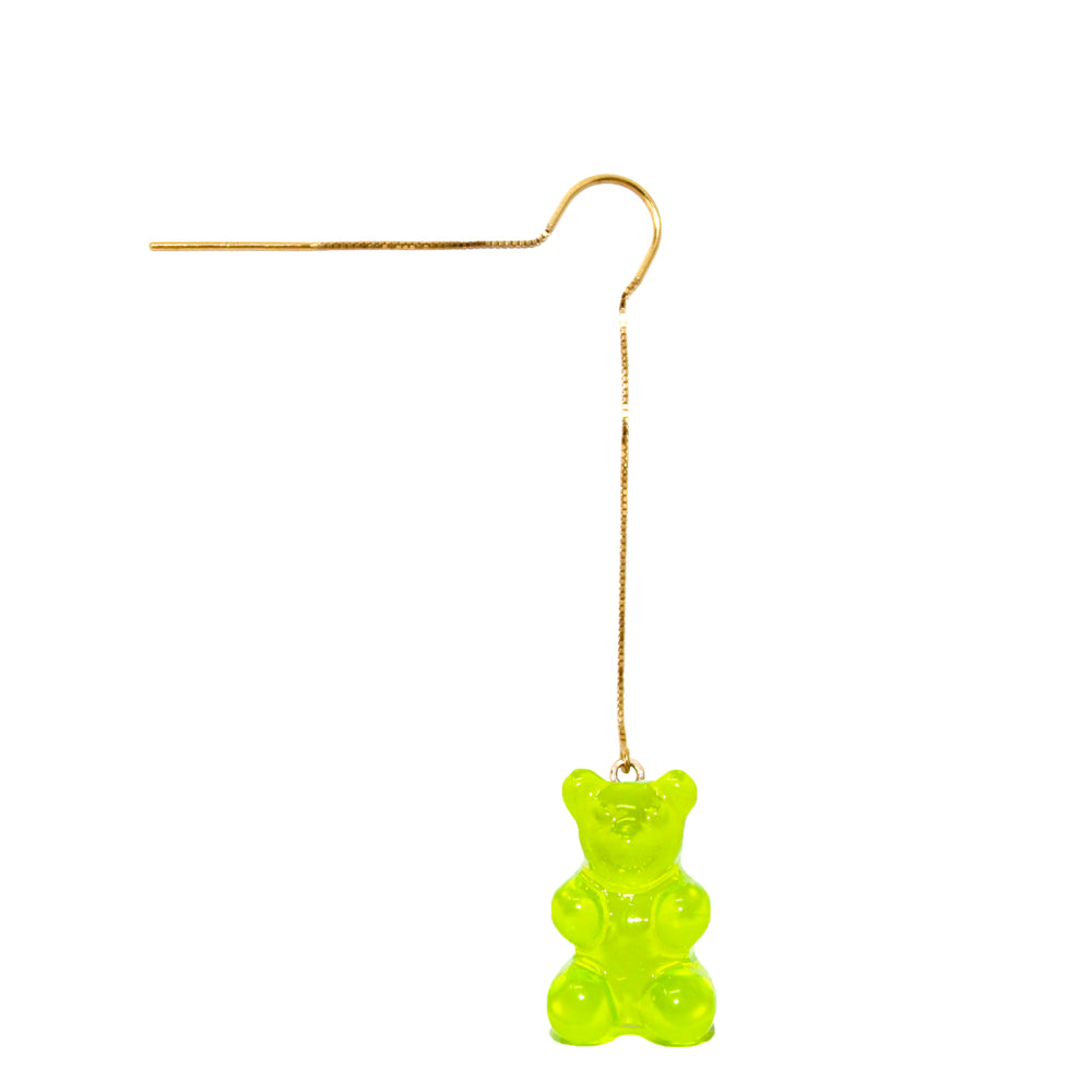 Gummy Bear Thread Earring- Green