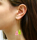 Gummy Bear Thread Earring- Pink