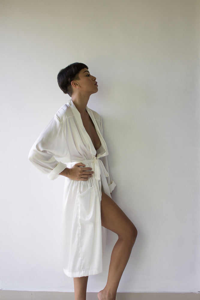 HELENE Silk Satin Robe