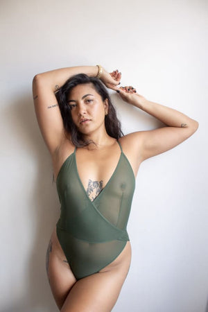 Louie High Cut Bodysuit-Bodysuits-nue lingerie-XS-Jungle-nue lingerie