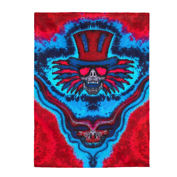 Super Uncle Sam Fleece Blanket