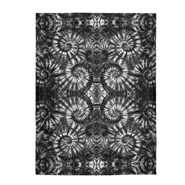 Autumn Spiral B/W Fleece Blanket