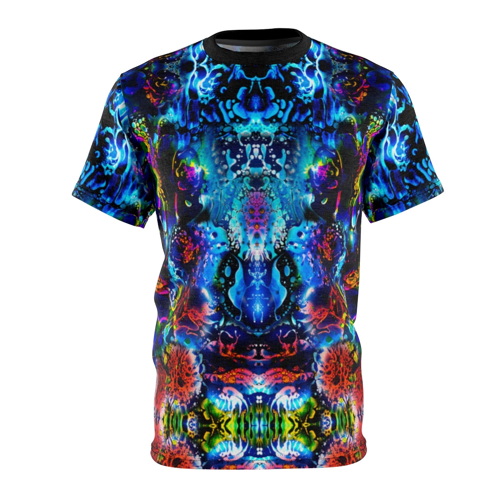 Coral Liquid Light All Over Print Shirt
