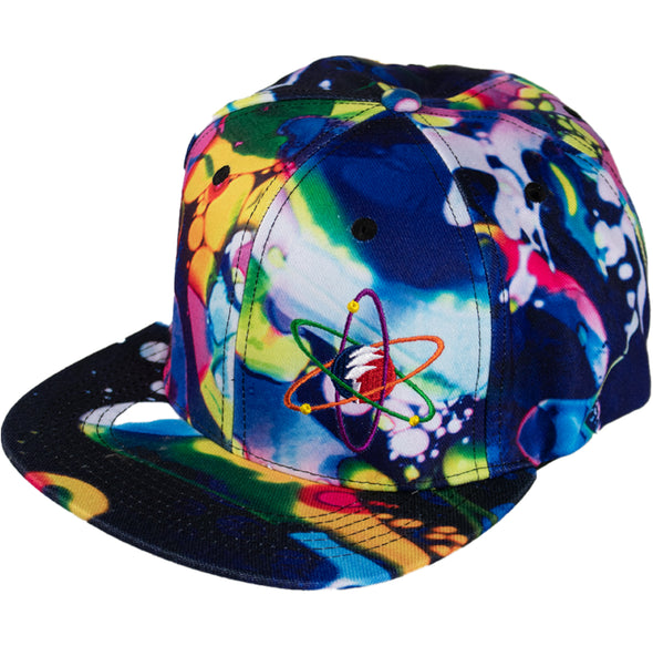 Rainbow Liquid Light Flex Fitted Hat